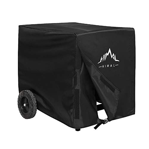 Himal Weather/UV Resistant Generator Cover 25 x 24 x 21 inch,for Universal Portable Generators 2200-5000 Watt, Black