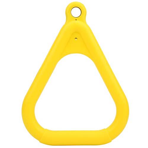 SANON Schaukelstangenringe Plastikgelb Kinder Kinder Fliegen Turnhallenringe Klimmzugring für Sportspiel Outdoor Indoor Fitnessgeräte (Gelb)