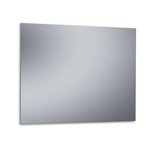 """Kristaled Basic """"L"""" 100x80 cm (Colgador Especial focos Pinza) Espejo, Cristal, Plateado, 100x80x3 cm"""