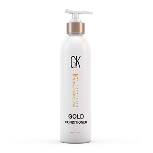 Global Keratin GKhair Gold Conditioner (250ml / 8.5 fl. Oz)   Moisturizing / shine and protection of the hair with argan oil, shea butter, natural oils   All hair types - By Gkhair