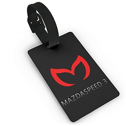 Etiquetas para equipaje de viaje Mazda para maleta de identificación para bolsos y maletas