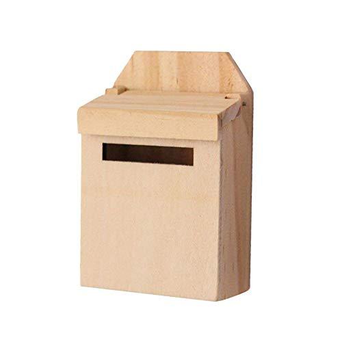 1:12 Scale Puppenhaus Zubehör Puppenstubenholzbriefkasten-Miniatur-Mail Box Home Garten Dekoration für Kinder Mädchen-Geschenk