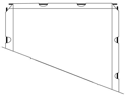 Telo Proiezione Trasportabile (123 Pollici) 250cm Formato 4:3 250x190 Telo Retro 2 metri Smontabile per Schermo Service 2mt Tela Retroproiezione Proiettore Bordi e Asole per Videoproiezione 2 mt