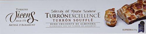 Vicens Turrón Soufflé Duro Almendra Bañado con Chocolate Excellence - 200 gr