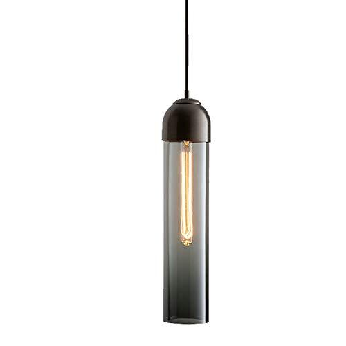 Tesysyet Nordic Lámpara De Cabecera Del Dormitorio Minimalista Bar Restaurante Metal Moderno Lámpara De Araña De Pequeñas Lámparas De Cristal De 10cm * 10cm * 40cm