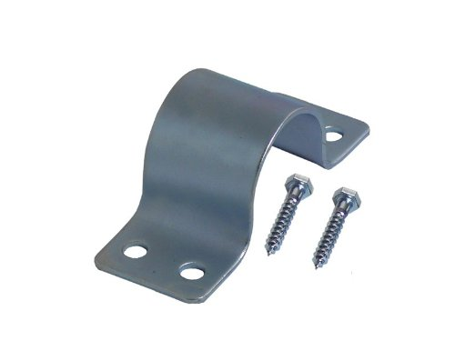 A.S.Sat 46051 verzinkt Stahl Mastschelle für Rohre 48-50 mm Durchmesser mit 2 Schrauben