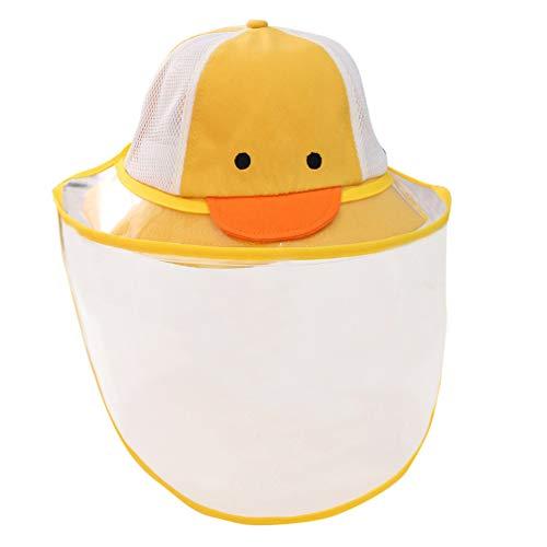 Bambino Cappello da Sole Estivo Berretto con Visiera Trasparente Rimovibile Cappello di Protezione Solare 2-4 anni