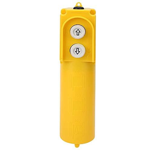 COB-61DR Interruptor de botón para grúa de polipasto Restablecimiento automático Interruptor de botón para subir y bajar a prueba de agua a prueba de agua Amarillo con condensador 220‑380V 30uF