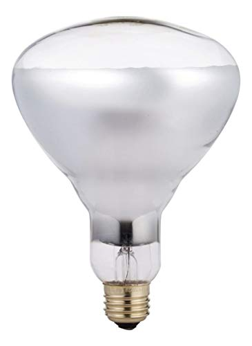 Phillips BR40 Heat Lamp Lightbulb, 250W, Infrared