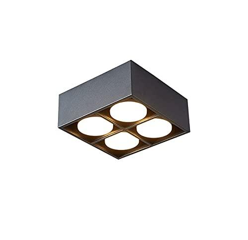 VanFty Sala de estar de nuevo estilo minimalista sin luz principal, luz cuadrada, luz de la vesícula biliar, luz de rejilla LED, luz de techo, superficie de la superficie. Una variedad de estilos disp
