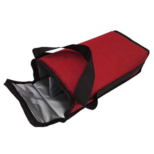 Isolierte Weinkühler-Tragetasche, für 2 Flaschen, auslaufsicher, gepolstert, tragbar, mit Griff, Schultergurt für Picknick, Camping, Reisen (1 Stück)