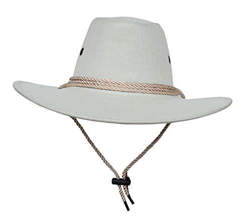 Amayay Mützen Hut Umfang:58 Krempe Jazz 60Cm Damen Breite Hut Cowboy Einfacher Stil Westernhut Ranger Hut Buschhut Pork Tarnung Caps (Color : Weiß, Size : 58-60cm)