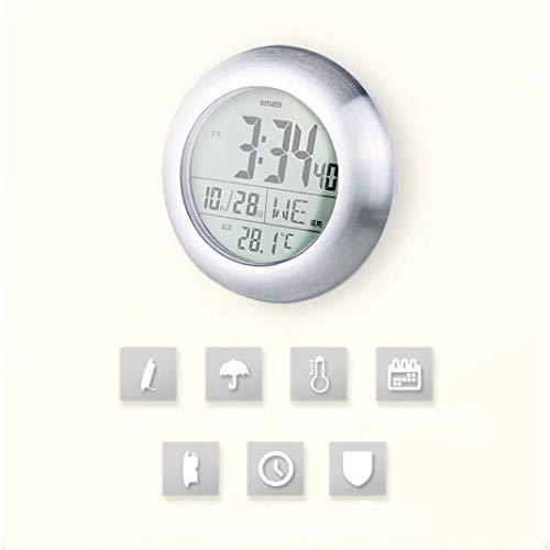 wasserdichte Badezimmeruhr, LCD Digital Super Saugnapf Dusche Badezimmeruhr, Thermometer Dekorativ Für Küche Elektronische Wanduhr