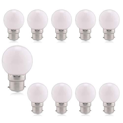 B22 ampoules à baïonnette - Ampoule LED 1.5W LED (équivalent 15W), ampoule à économie d'énergie colorée blanche Golfball, longue durée de vie 60.000 heures, ampoules BC Party Small/mini Noël