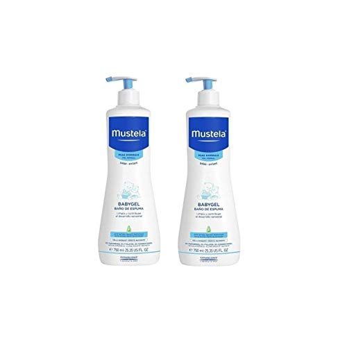 Mustela, Baño De Espuma, Pack of 2 x 750 ml (total:1500 ml)