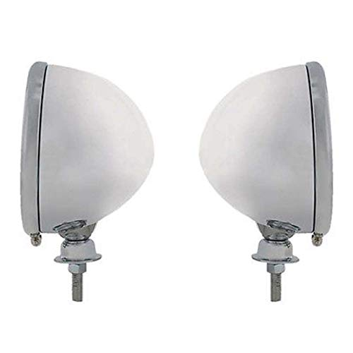 """Pair (2) Dietz 7"""" Chrome Head Light Buckets Wired Assembly Bullet"""