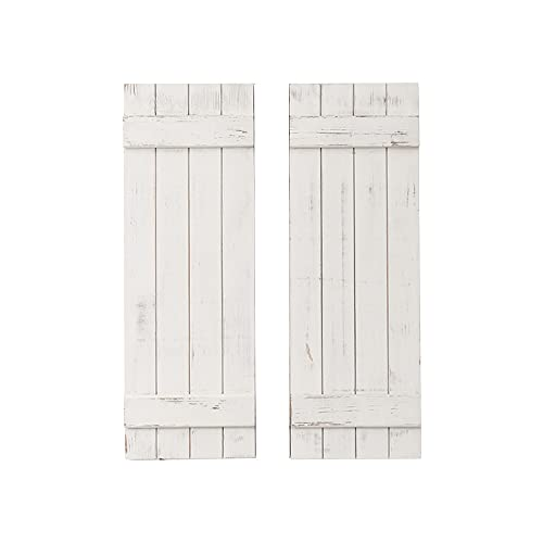 AZL1 Life Concept Rustic Barn Wood Shutter Set Of 2 For Wall Decor, Window Accents - Add That Touch of Barn Wood Style and Rustic Decor To Any Room