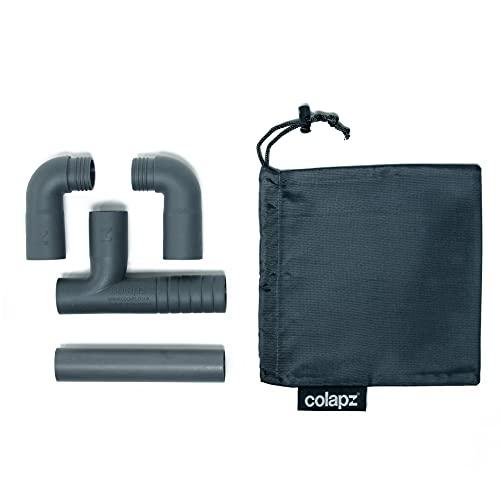 Colapz Caravan Accessories - Double Caravan Waste Water Outlet Hose Adapter - Adjustable Design to Fit Most Caravans - Includes 15cm Down Pipe and Carry Bag