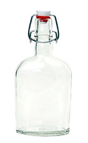 Nutley's Glasflasche mit Keramik-Bügelverschluss, 350ml