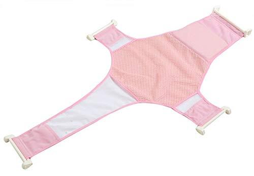 SYGA New Baby Bathtub Mesh Seat Support Sling Net Infant Bath Blue Tub Hammock(Pink)