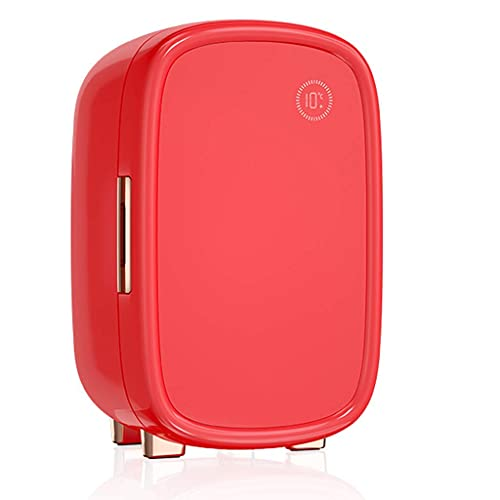 YYhkeby Maquillaje de Belleza Mini refrigerador Mini Constant Temperatura Conservation Partition Storage Jialele (Color : Red)