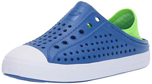 Skechers Kids Boys' Cali Gear Guzman Stepz Sneaker, Blue/Lime, 2 Medium US Little Kid