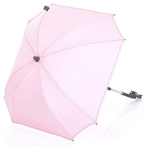 ABC Design Sonnenschirm Sunny - Universal Schirm/Sonnenschutz für Kinderwagen und Buggy - Rose