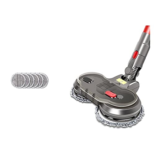 Accesorios de aspiradora 1set Electric Dry Dry Dry Pead Fit para Dyson V7 V8 V10 V11 Piezas REEMPLAZABLES con Tanque DE Agua MOP Head Pads Hogar (Color : Dark Grey)