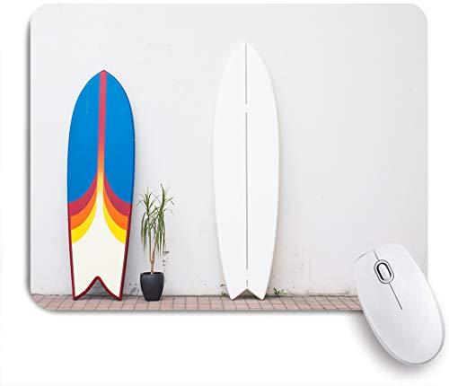 SUHOM Gaming Mouse Pad Rutschfeste Gummibasis,Zwei Surfbretter auf der Straße in der Nähe der Mauer zu mieten,für Computer Laptop Office Desk,240 x 200mm