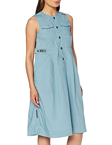 G-STAR RAW Womens Fit and Flare Business Casual Dress, Light Bright Nickel 4481-C428, Einheitsgröße-XL