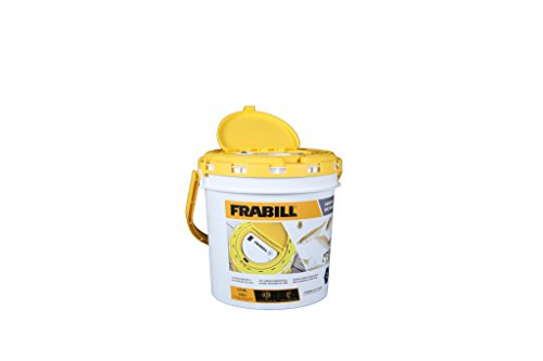 Frabill 4825 Insulated Bait Bucket with Built in Aerator , White and Yellow, 1.3 Gallons