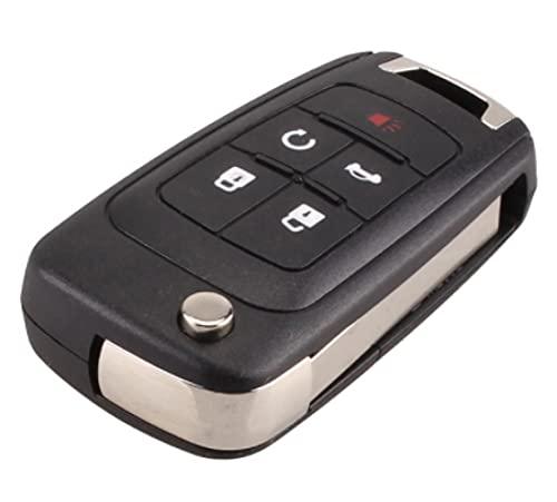 Carcasa de Llave de Coche remota Plegable abatible para Chevrolet Cruze Epica Lova Camaro Impala2 3 4 5 Botones HU100 Hoja 5 Botones