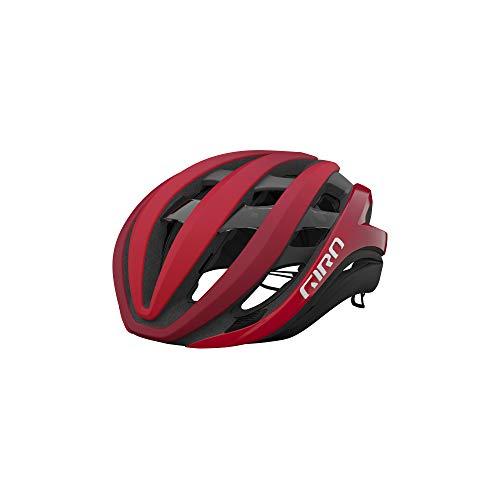 Giro Aether MIPS Adult Road Cycling Helmet - Medium (55-59 cm), Matte Bright Red/Dark Red Fade (2021)