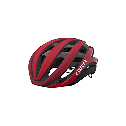 Giro Aether MIPS Adult Road Cycling Helmet - Medium (55-59 cm), Matte Bright Red/Dark Red Fade (2021)