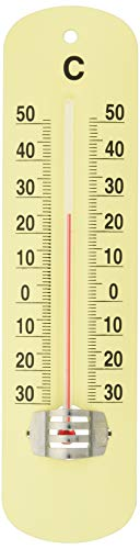 PL アンティーク調 アナログ温度計 ライトイエロー TOP-2
