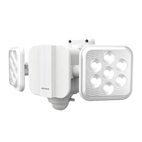 ムサシ RITEX フリーアーム式LEDセンサーライト(5W×2灯) 「乾電池式」 LED-270 ホワイト