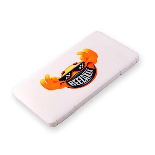REELAXXX Nahkasten Aufbewahrungsbox aus Kunststoff für Maske, Schmuck, Karten und Zubehör, Etui-Tasche, wasserdichte Falttasche, Boxen kiste, Würfel, Schreibtisch-Organizer (weiß)