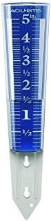 AcuRite 00850A2 5-Inch Capacity Easy-Read Magnifying Rain Gauge, 12.5-inch