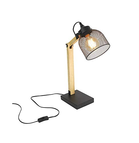 The Home Deco Light Lampe de Bureau Style Industriel métal et Bois