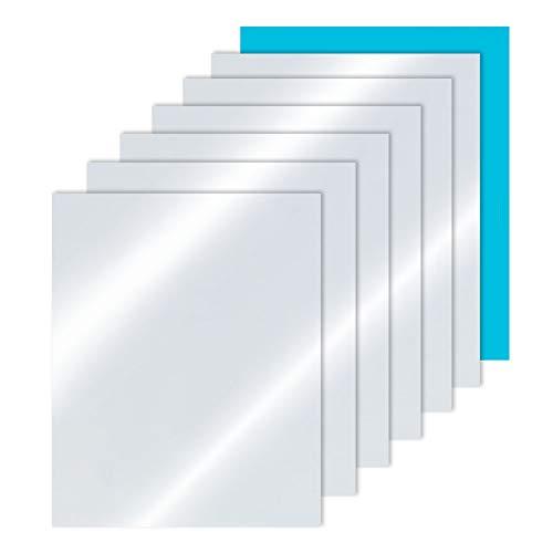 PandaHall 10 Pack Acryl Spiegelplaten, met Films, voor Huisdecoratie, Niet Glas, Helder, 29x21x0.02cm
