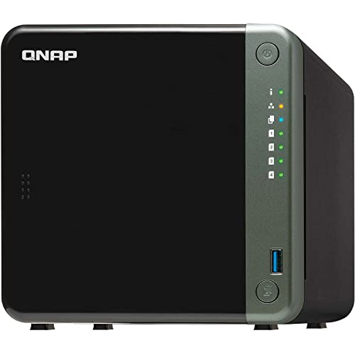 QNAP TS-453D-4G 4 Bay Desktop NAS Gehäuse - Netzwerkspeicher mit 2.5GbE Konnektivität, 4GB RAM, Intel Celeron Quad-Core, 2.0 GHz Prozessor - für Profis, unterstützt PCIe-Erweiterung
