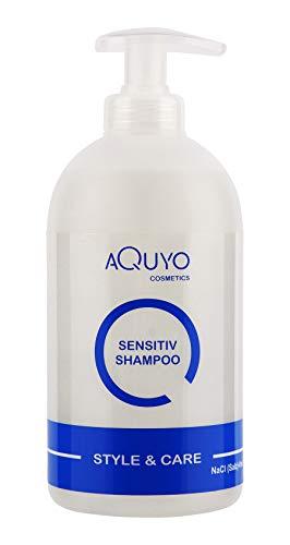 Style & Care Sensitive Shampoo für trockene, empfindliche und juckende Kopfhaut (500ml) | Mildes Shampoo für trockene und fettige Haare | Haar und Kopfhautpflege | ohne Silikon, Salz und Parabene