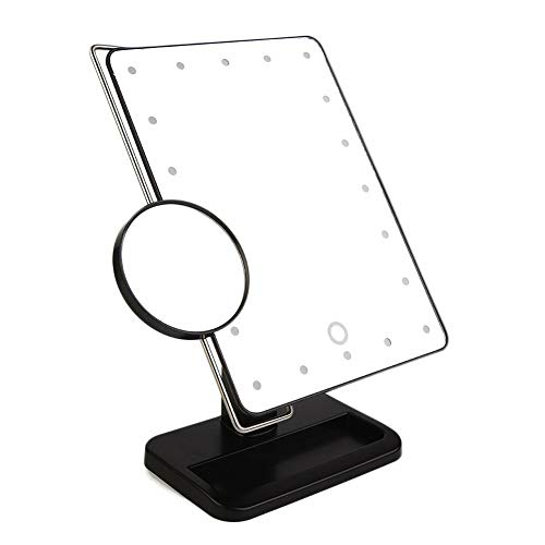 10 Keer Vergroting Led Make-up Spiegel, Lamp Desktop Make-up Spiegel Touch Switch 180 Rotatie Badkamer Reizen