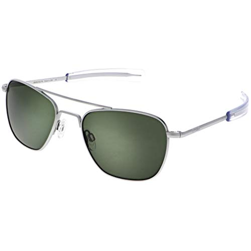 Randolph Sunglasses Aviator Matte Chrome AGX Glass 55 AF086 NEW