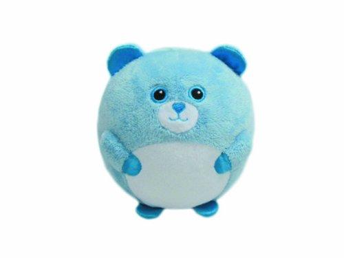 Ty 7138116 – bluey – Pluffie Ballon avec hochet – Chien, diamètre 12 cm, Bleu