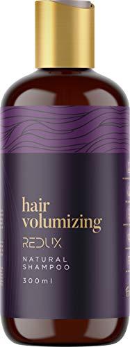 Redux Hair Volumizing Natural Shampoo - 300ml - Biotin & Keratin-Komplex mit Vitamin B + E - Verdickendes Shampoo gegen Haarausfall und Haarausfall, Volumizing Shampoo für Männer und Frauen