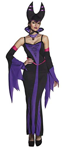 Boland 79119 kostuum voor volwassenen, boze koningin, maat 36/38, dames, zwart/paars