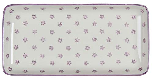 IB Laursen - Teller länglich - Casablanca - Bloom - Steingut - 12,5 x 3 x 25 cm