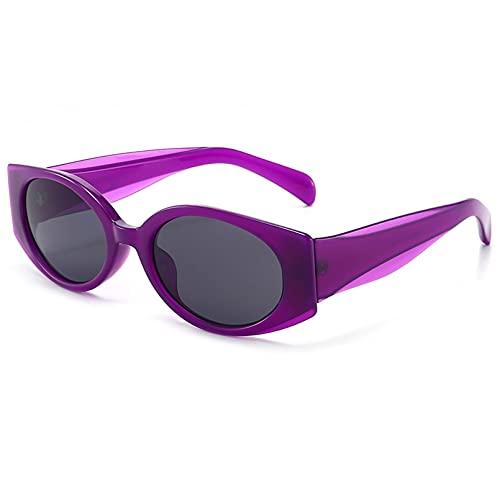 Tanxianlu Gafas de Sol Negras Retro Vintage Mujer Rosa Uv400 Gafas de Sol para Mujer Ovaladas Accesorios Femeninos Verano Barato,2
