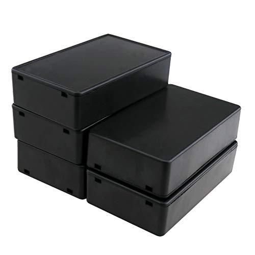 OTOTEC 5 cajas de conexión de terminal para proyectos eléctricos, caja de bricolaje de instrumentos de alimentación, caja resistente al agua, 10 x 6 x 2,5 cm